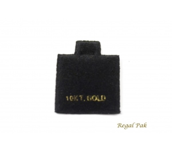 "Black 10 Kt. Gold Earring Puff Cards (100 Pieces In A Pack) 1"" X 1"""