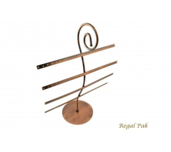 "Copper Metal Earring Display (40 Pairs) 11"" X 5-1/8""D X 15""H"