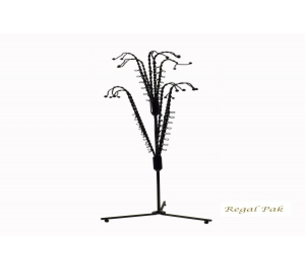 "Black Metal Tree Earring Display (35 Pairs) 16"" X 17-1/2""H"