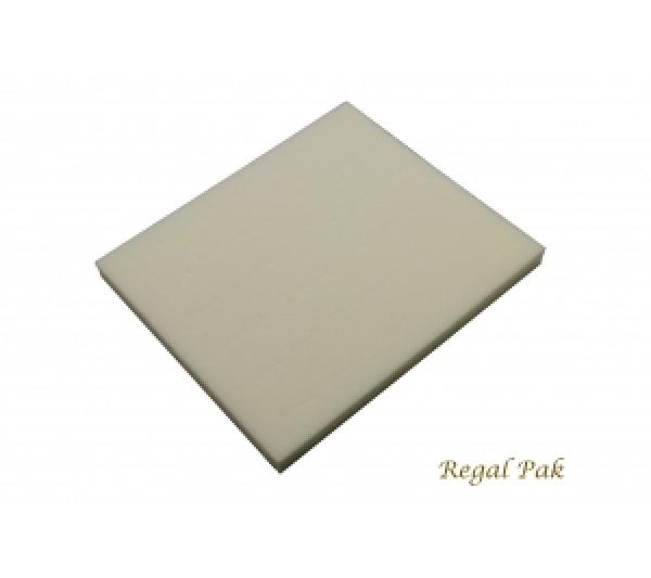 "Half Size White Ring Foam Insert (36 Rings) 7-3/4"" X 6-3/4"" X 5/8""H"